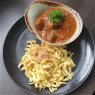 Hearty brewer's goulash made from pasture cattle