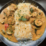 Vegan vegetable curry with coconut milk